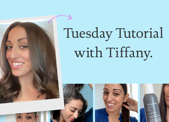 Get a salon-worthy blowout with Tiffany