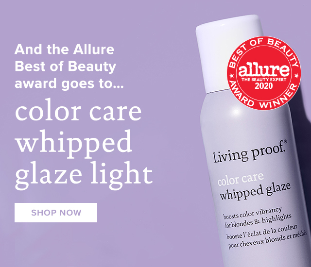 And the Allure Beauty Award goes to Color Care Whipped Glaze Light