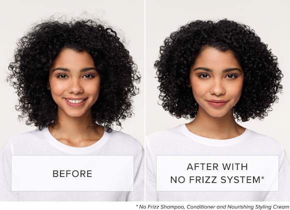 No Frizz - Before & After