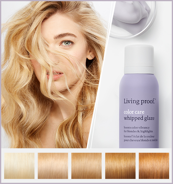 Blonde model with Whipped Glaze Light