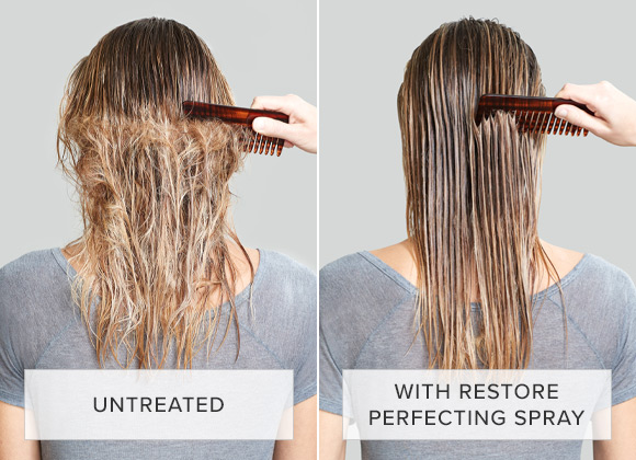 Untreated vs With Restore Perfecting Spray