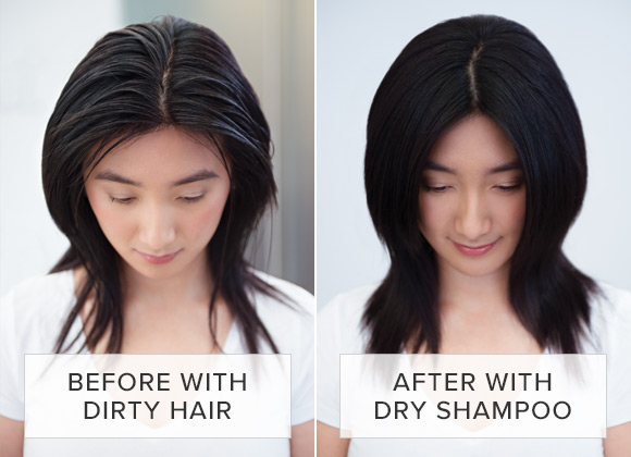 Before and After Dry Shampoo
