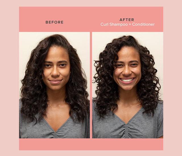 Curl system Before and After images