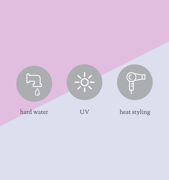 Made for UV, Hard Water and Heat Styling