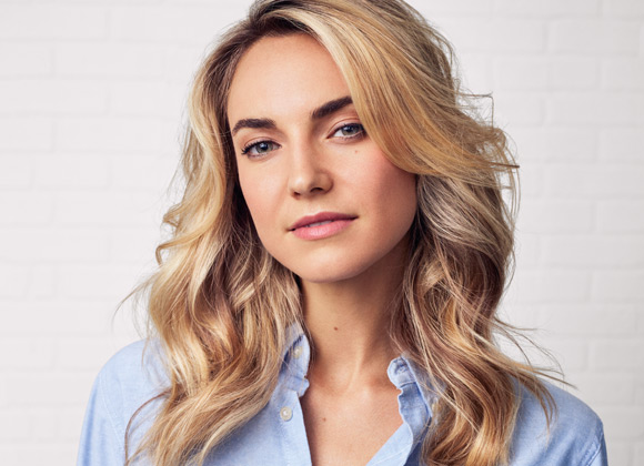 Blond Woman with Excellent Hair