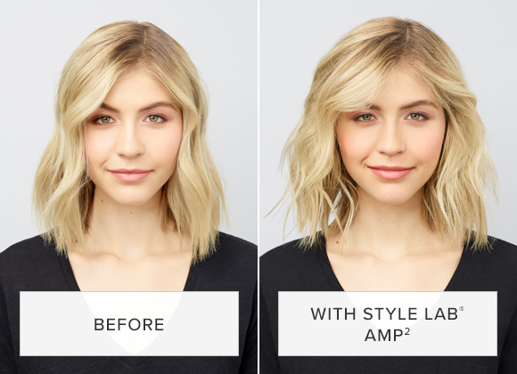Woman with Great Hair using Amp